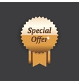 special offer gold label vector image