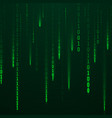 stream binary code green color code streams vector image vector image