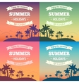 Summer holiday poster vector image vector image