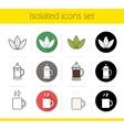Tea icons vector image vector image