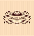 vintage calligraphic label ornate logo template vector image vector image