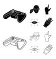 virtual reality helmet computer technology vector image vector image