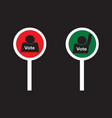 votes and no votes sign paddles vector image vector image