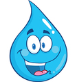 Water droplet cartoon character