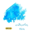 Watercolor colorful stain vector image vector image