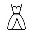 wedding dress icon on white background vector image