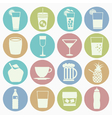 white icons drink vector image vector image