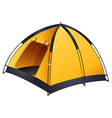 Yellow tent vector image vector image