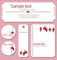 card with rosehips vector image