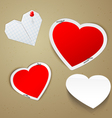 valentines day hearts vector image