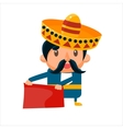 Spanisht Toreador In Traditional Clothes vector image