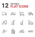 12 moving icons vector image vector image