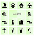 14 elements icons vector image vector image