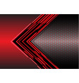 abstract red arrow light digital metallic vector image vector image