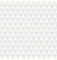 abstract vintage black and white hexagon pattern vector image