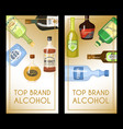 alccohol banner wine list template for bar or vector image vector image