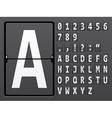 alphabet of mechanical panel vector image vector image