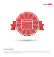 application window interface icon - red ribbon vector image vector image