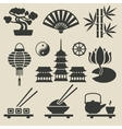 Asian icons set vector image vector image