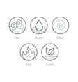 Ayurveda elenemts icons set symbols vector image vector image