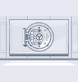 bank vault closed door vector image