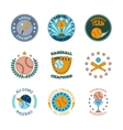 Baseball labels icons color set vector image