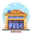 Bowling club outdoor exterior panorama view vector image vector image