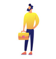 businessman with briefcase vector image vector image
