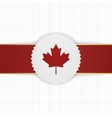 Canada paper Label with red Ribbon vector image vector image