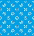 coin pattern seamless blue vector image vector image