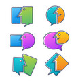 collection of talking speaking chatting and vector image vector image