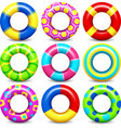 Colorful swim rings set vector image vector image