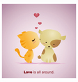 Cute Animals Collection Love is all around 1 vector image vector image