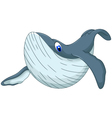cute whale cartoon for you design vector image