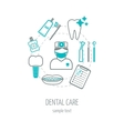 Dental clinic banner background poster concept vector image