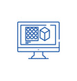 design designing line icon concept design vector image