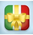 Design Italy Gift Icon for Web and Mobile vector image vector image