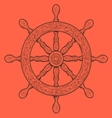 Detailed grey outlines nautical rudder vector image vector image