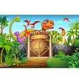 Dinosaurs living in the park vector image vector image