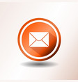 email icon in flat design vector image vector image