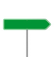 Empty Green Direction Sign vector image vector image