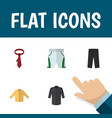 flat icon dress set of trunks cloth uniform vector image