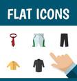 flat icon dress set of trunks cloth uniform vector image