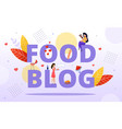 food blogging meal hunter review online recipe vector image