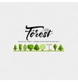 Forest - badge sticker label insignia flyer vector image