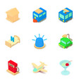 gasolene icons set isometric style vector image vector image