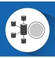 globe binary concept data center server vector image vector image