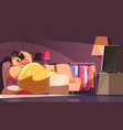gluttony night background vector image