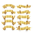 golden ribbons and gold award banners set vector image vector image