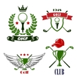 Golf club or tournament heraldic emblems vector image vector image